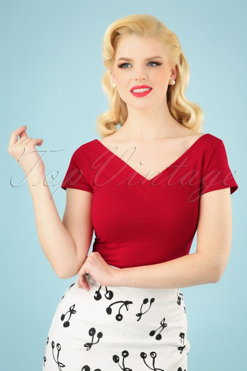 Bunny 28870 Alex Top in Red 20190225 001 020W