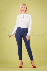 50s Susan Skinny Pants in Blueberry