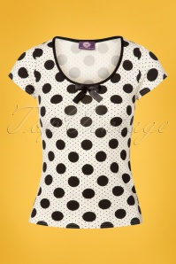 TopVintage Boutique Collection White Polkadot Top 110 59 25965 20180605 0005W
