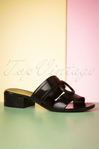 60s Bossy Express Sandals in Preto Black