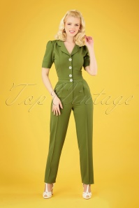 Very Cherry 26995 Classic Jumpsuit Green 20190221 005 020W