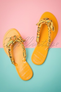 60s Naoh Flip Flops in Sun Yellow