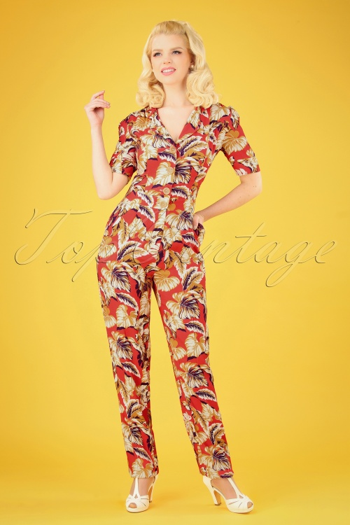 Very Cherry 27007 Classic Tropical Jumpsuit 20190221 003 020W