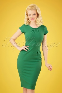 Vintage Chic 28745 50s Candance Green Dress 20190222 003 020W