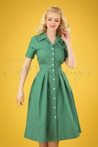 Retuned 29329 Janet Green Swing Dress 20190311 004 020W
