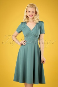 Very Cherry 27009 Hollywood Soft Blue Circle Dress 20190307 002 020W