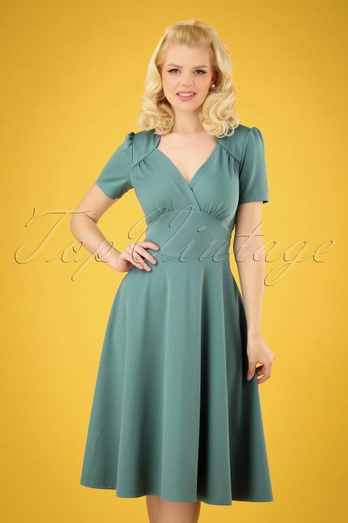 Very Cherry 27009 Hollywood Soft Blue Circle Dress 20190307 002 020W