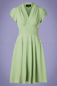 30s Ava Tea Dress in Green