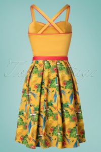La Veintineuve 27720 Yellow Parrot Dress 20190424 008W