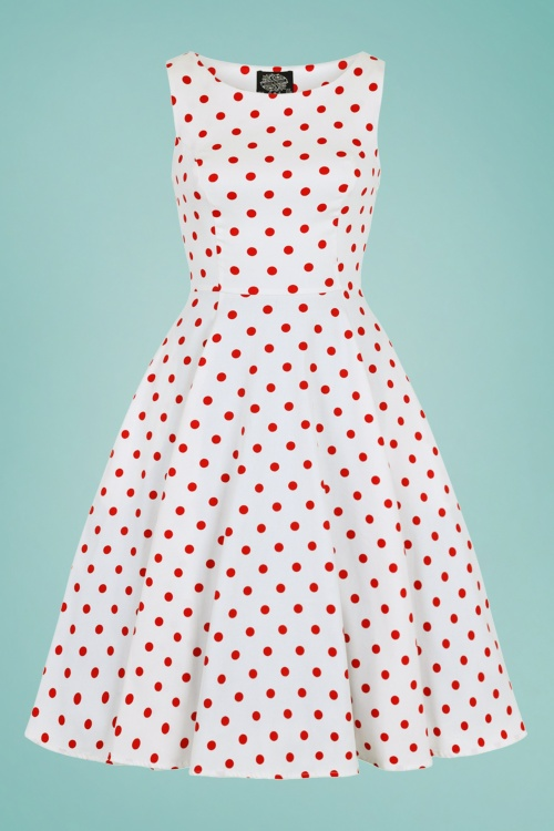 Hearts&Roses 30243 White and red Polka swing dress 20190423 022LW