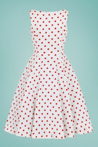 Hearts&Roses 30243 White and red Polka swing dress 20190423 021W