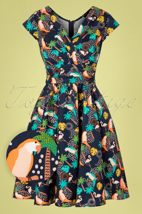 Retrolicious 30195 Swingdress Tropical Birds 20190425 0002W1