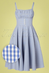 Sheen 29607 Swingdress Mellisendre Checked Blue White 20190425 0007W1