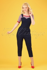 50s Connie Capri Overalls in Denim