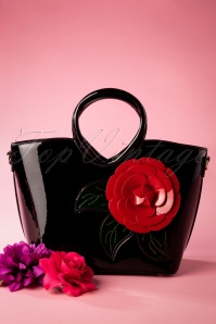 La Parisienne 30599 Shoulderbag Red Rose Black Lack 20190424 0014 W