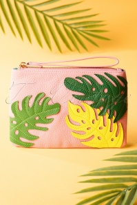 50s Bree Banana Leaf Small Purse in Pink