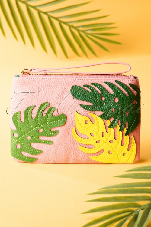 Louche 27966 Bree Purse Leaf Tropical Pink 20190424 0016W