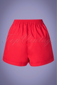 Louche 28165 Soren Solid Red Shorts 20190426 005W