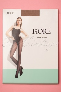 Nina Classic Tights in Natural