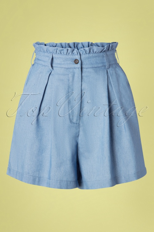 Louche 28151 Alda Chambray Shorts 20190426 003W