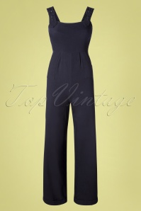 40s Lita Overalls in Dark Navy