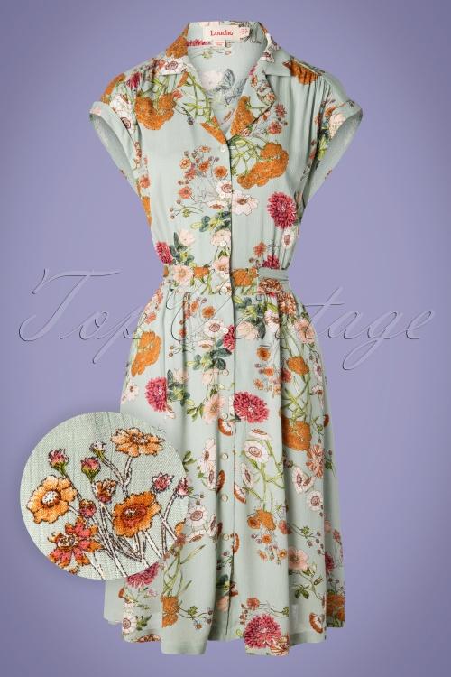 Louche 28152 Brianna Peafloral Dress 20190426 003W1