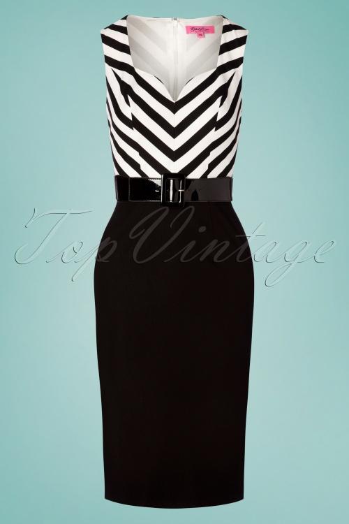 Rebel Love Clothing 29567 Pencildress Cafedress Stripes Blackandwhite 20190429 0003W
