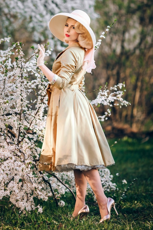 Collectif 20790 korrina swing trench coat beige 20190429 031i