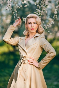 Collectif 20790 korrina swing trench coat beige 20190429 030i