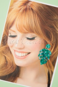 Darling Divine 28986 Earrings Tortoise Green Blue Leaf 20190429 022 W