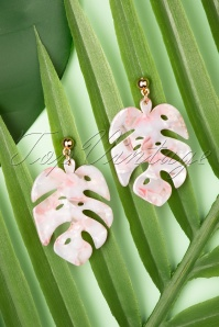 Louche 27984 Earrings Tort Leaf Stephani Pin Pink Gold 20190429 024W