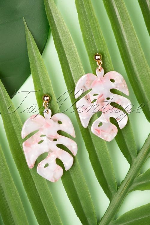Louche 27984 Earrings Tort Leaf Stephani Pin Pink Gold 20190429 024W