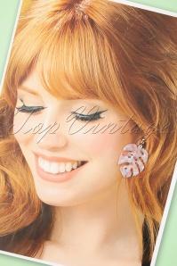 Louche 27984 Earrings Tort Leaf Stephani Pin Pink Gold 20190429 014W