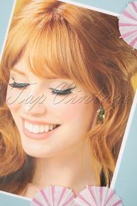 Louche 27981 Earrings Green Gold Seahorse 20190429 009W
