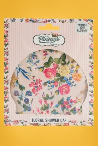 Vintage Cosmetic 30763 Showercap Floral Pink Blue Green 20170703 011