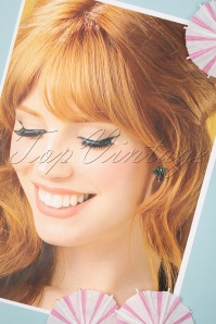 Louche 27979 Earrings Palmtree Green Pearl 20190429 009W