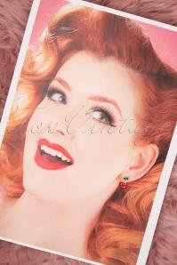 Louche 27977 Earrings Red Gold Cherry Green 20190429 011 W