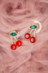 Louche 27977 Earrings Red Gold Cherry Green 20190429 007 W