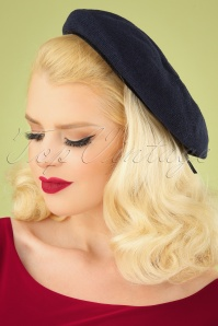 50s Kathrine Beret in Navy