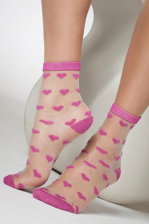 Gipsy 30698 Sheer heart ankle socks pink 20190429 020L copy