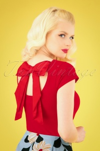 Bunny 28875 Celine Bow Top in Red 20190225 041MW