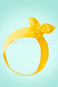 50s Hair Scarf in Yellow