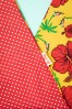 Be Bop A Hairbands 30095 Hairband Hibiscus Yellow Polkadots Red White 20190429 0002W