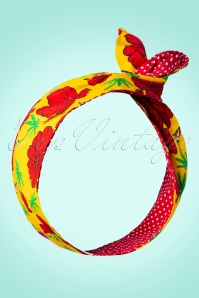 I Want Hibiscuses And Polkadots In My Hair Scarf Années 50