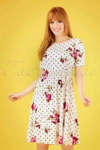 Mika Rose White Polkadot floral Dress 27509 20180927 040MW