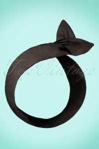 50s Hair Scarf in Black