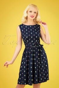 50s Lauren Ice Lolly Dress in Blue