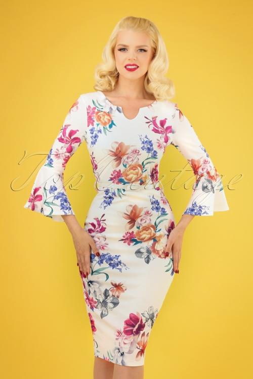 Vintage Chic 28769 White Floral Dress 20190328 040MW