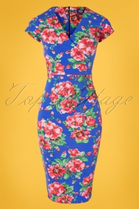 TOPVBC 30384 Pecildress Blue Floral 010519 0001W