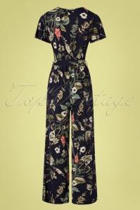 Vintage Chic 30411 Jumpsuit Floral Black 010519 0011W
